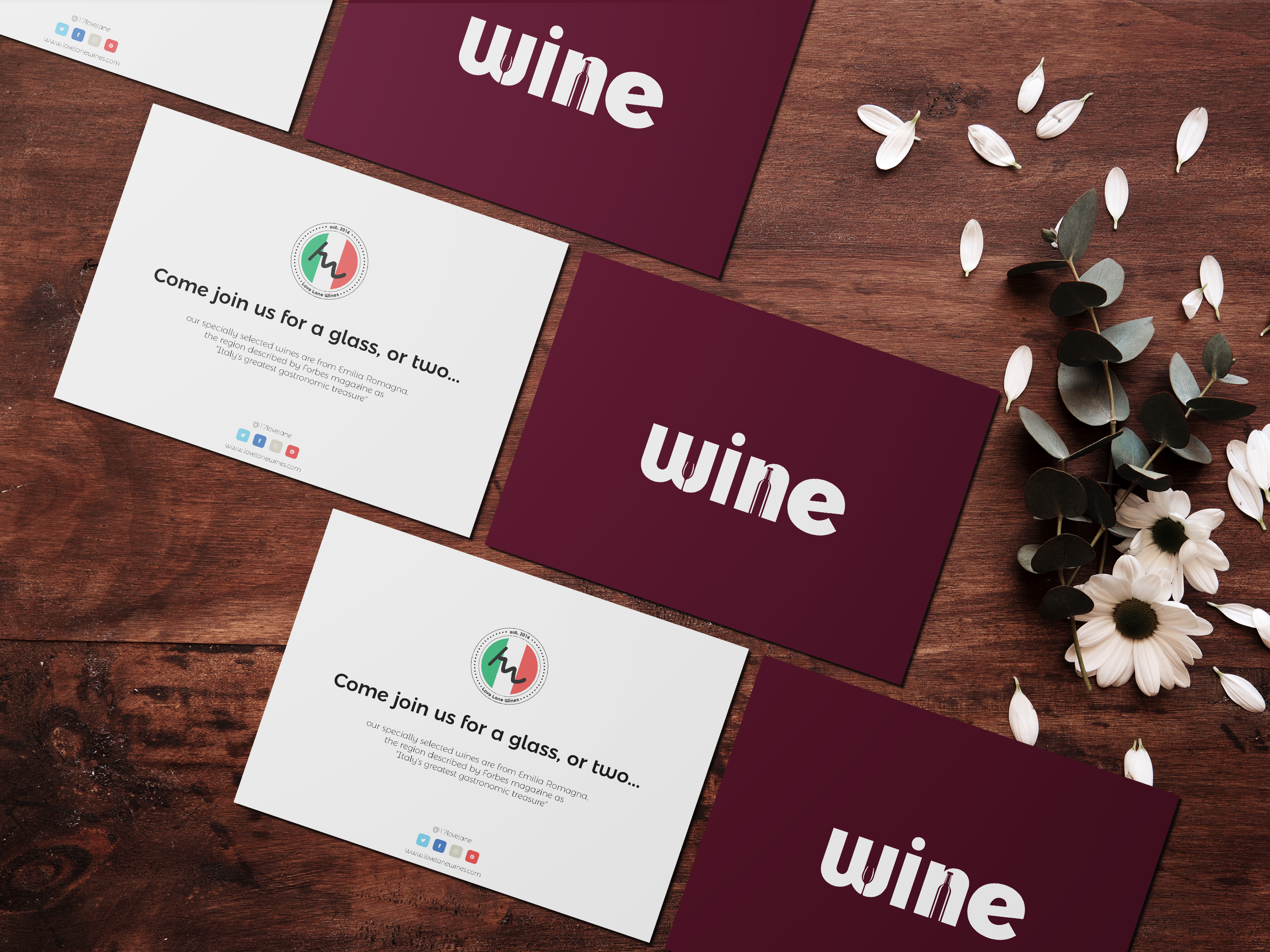 Love Lane Wines Branding